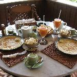 Our beautiful breakfast - my favorite.