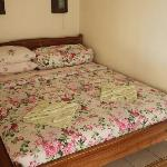 King bed in air conditioned bedroom