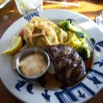 Fillet and crab cake dinner