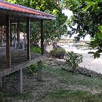 A view of the bungalows