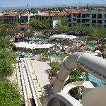 View from the top of water slide