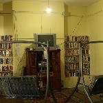 Cool hangout room where you can watch videos