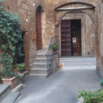 Looking out from the Arch to San Giovanale doors