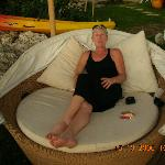 loved this chairbed especially with a cocktail in hand watching the sunset