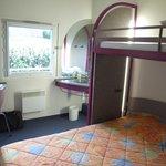 bedroom, bunk for kids above