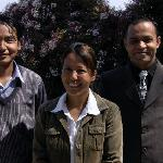 The staff at the Mirabel; Probin, Dolma and Sagar