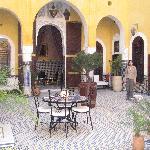 The riad courtyard