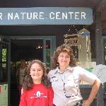 my duaghter and kathleen in front of the nature center