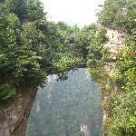 Natural bridge with a 1000 meter drop