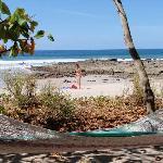 La plage face aux villas