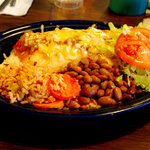 Chicken Burrito plate
