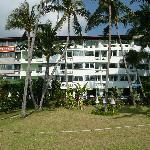 Hotel viewed from beach