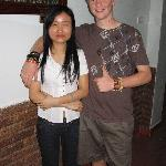 My son Kiowa with Xuan - manager - and the best..