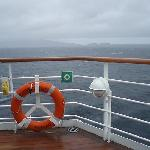View the crossing from ship deck.