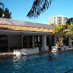 Main pool & indoor pool-rec building behind