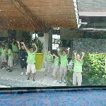 saying goodbye (through the bus window)