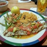 Hammour Fish with a Vera Cruz Sauce