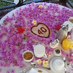 40th wedding anniversary breakfast in gazebo