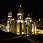 View of the cathedral, from our terrace, at night!
