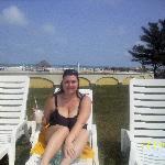 Facing the pool beach behind me