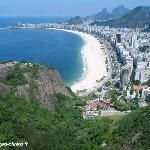 une vue de la plage de copacabana