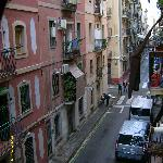 Street below apartment