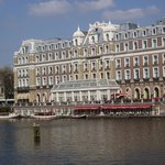View of hotel on Amstel River