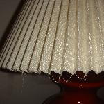 dust hanging from lampshade