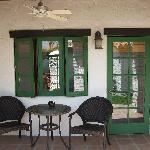 Patio/Entrance to Brass Balls Room