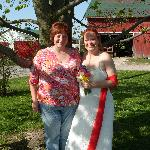 Maureen and I before the ceremony