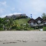 View of lodge from the beach
