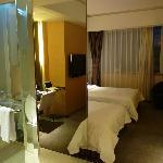 shower + beds