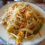 Preserved Vegetable, Meat, and egg rice noodle