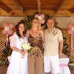 Us with Petra the Wedding Coordinator