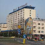 Hotel from roundabout