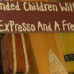 We love this sign @ Cove Café