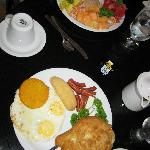 Panamanian breakfast & fruit plate