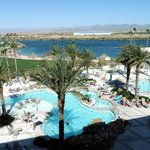 Avi Casino Pool with River in Back by tab hauser