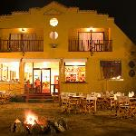 Medio Mundo Hotel and Restaurant @ Night