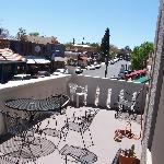 View from Shared Balcony in Cottonwood Hotel