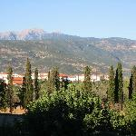 view of the peleponese mountains