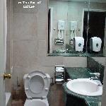 My bathroom at the Royal Plaza Hotel, Tiberias