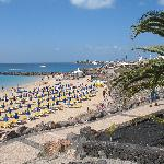 Dorada beach, Playa Blanca  15 min walk away