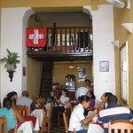 inside of restaurante casa suiza