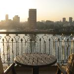 view from bedroom to the Nile