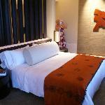 Bedroom with divine bedlinen and decor