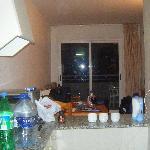 kitchen looking towards balcony