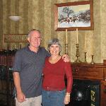 Phil and Rayma in the Cobden Garden living room