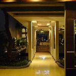 The corridor between lobby and elevator