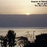 Daylight on The Sea of Galilee much the way Jesus must have watched it